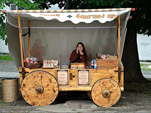 Vertriebs- und Essen - Mittelalterliche Warenkorb