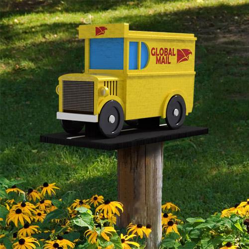 Garten Deko Post Auto