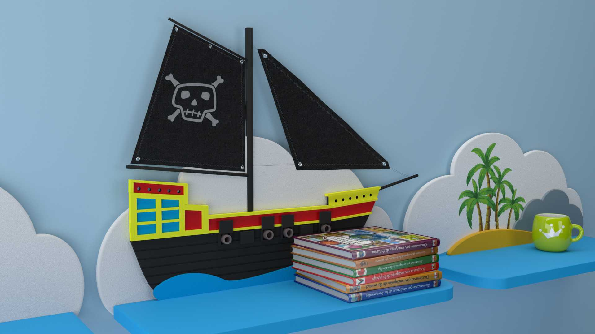 Model Piraten Wandregal Vista 2