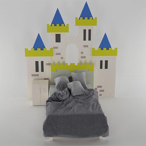 Kinderzimmer Deko Camelot Bett