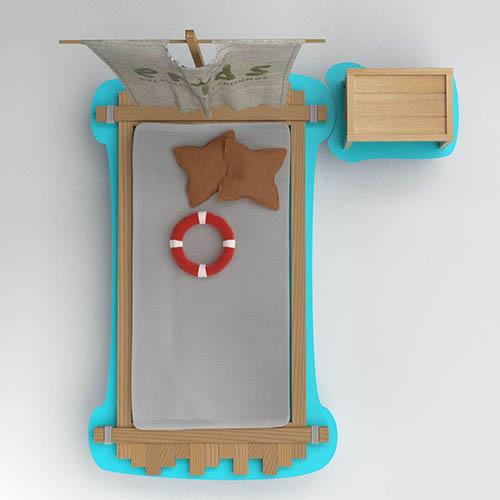 Kinderzimmer Deko Crusoe Bett