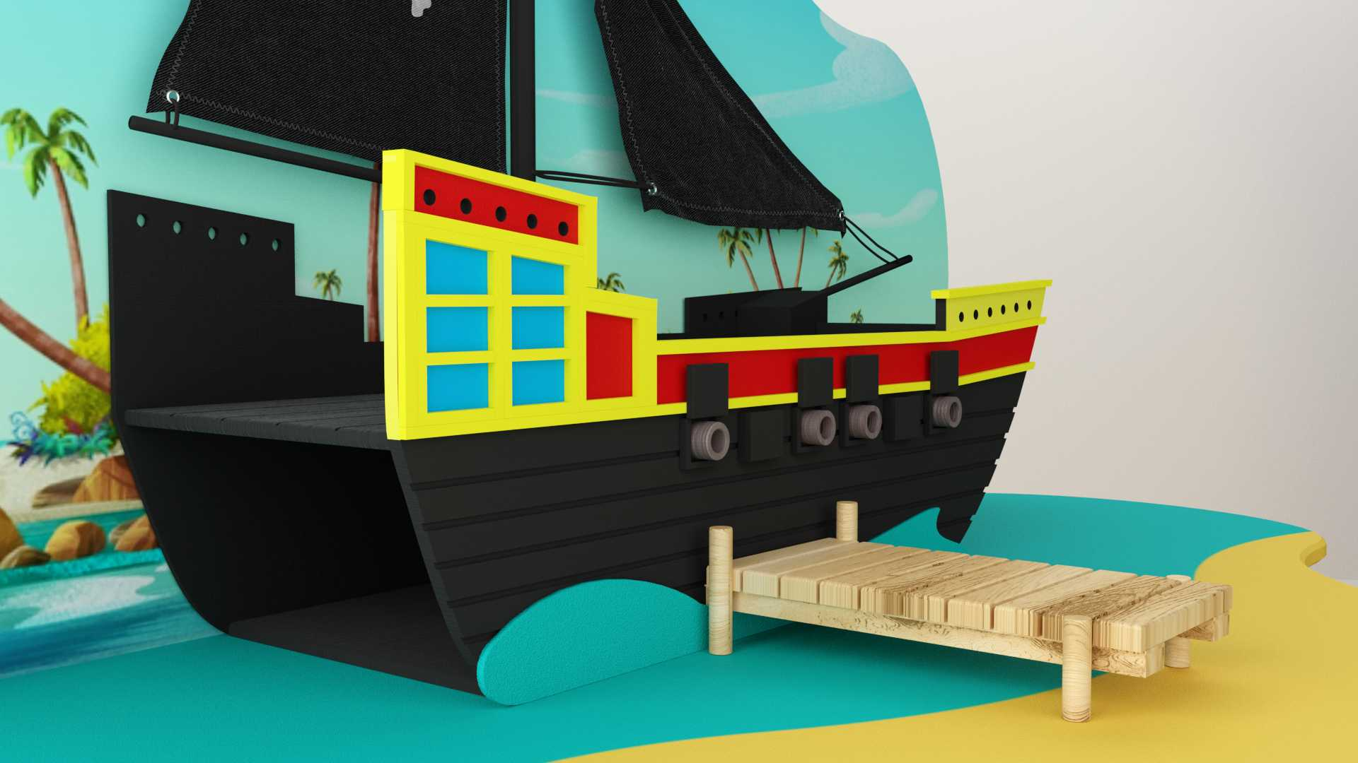 Model Pirateninsel Deko Vista 3