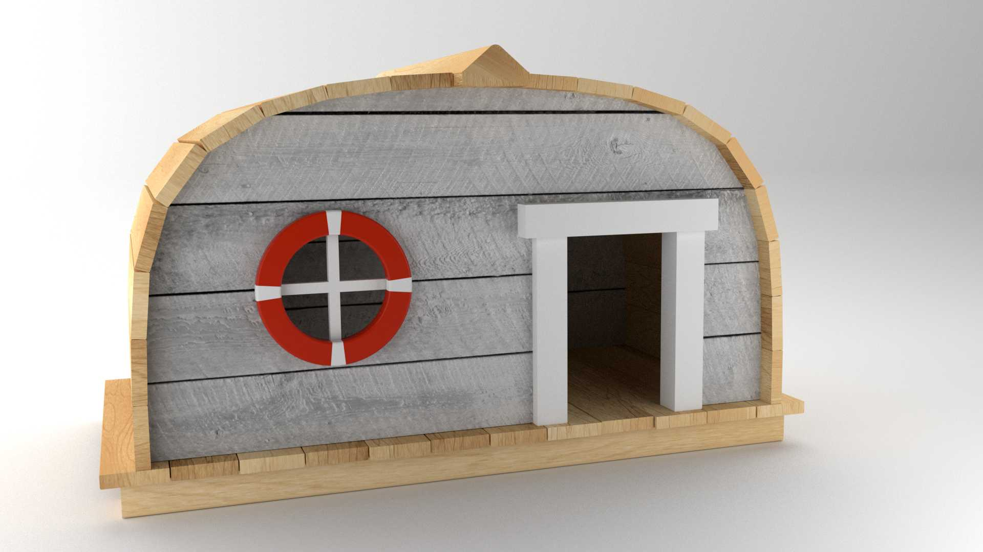 Model Boat Hut Vista 1
