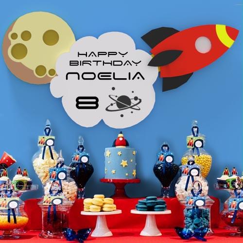 Decoracion Fiestas Cohete Espacial