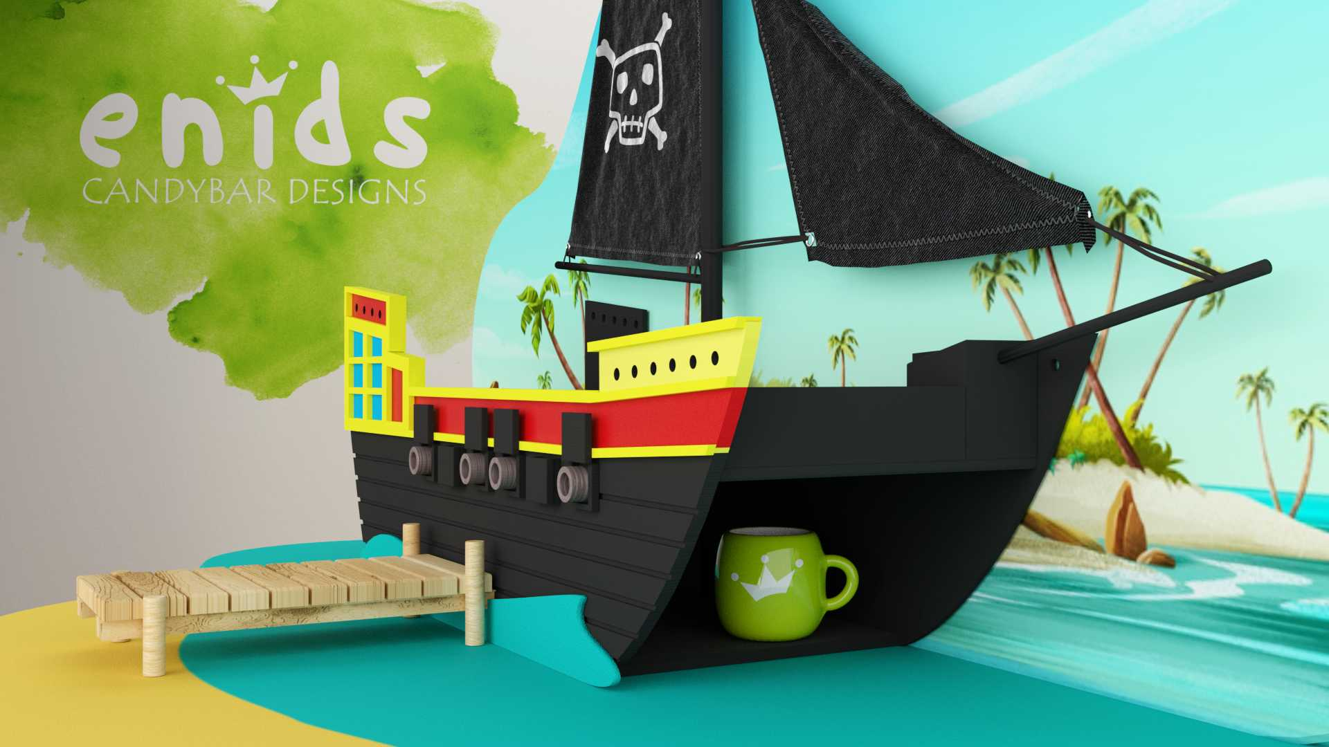 Modelo Isla Pirata Vista 2